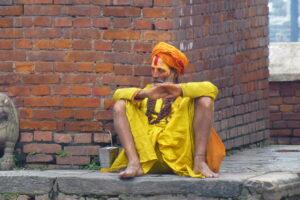 Indian Shadu sitting