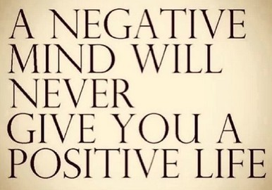 Think positive to attract positive results