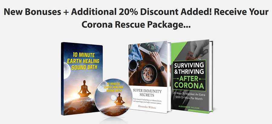 The Corona resuce package is an important addition to The manifestation Magic System.