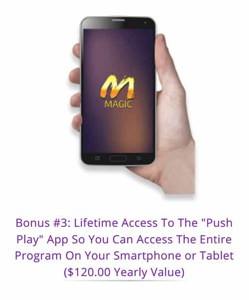 The manifestation Magic Phone App makes it easy to use.