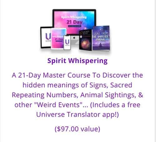 The Spirit Whispering program is now an added bonus