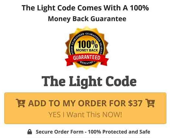 The Light Code 100% money back guarantee