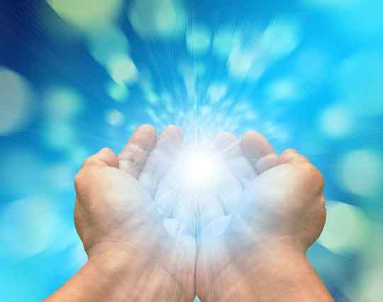 Healing hands can help raise our vibration