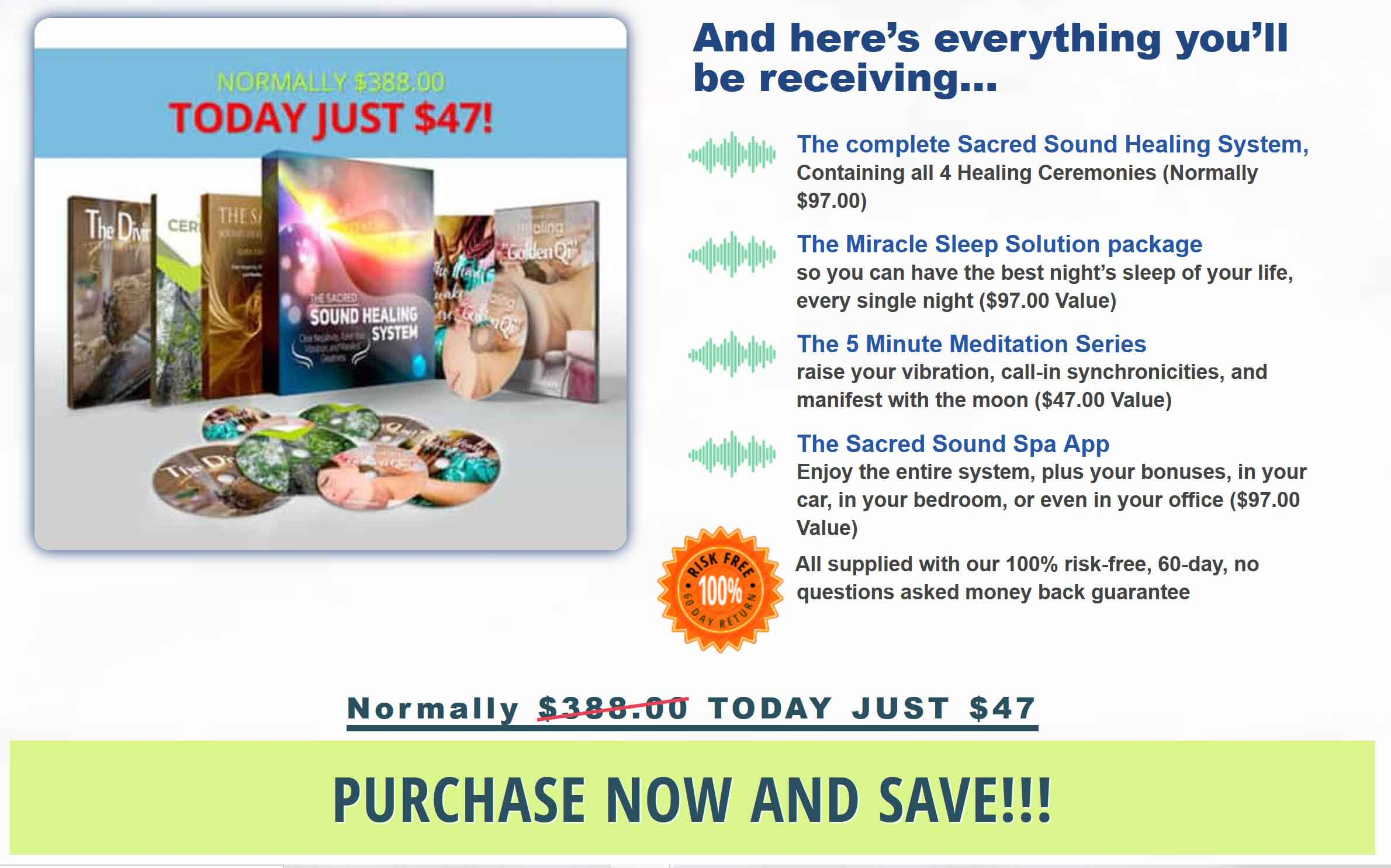 Get your copy of the Sacred Sound Healing System now.
