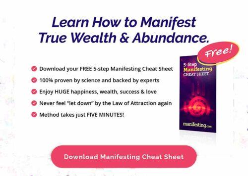 Manifesting.com free cheat sheet