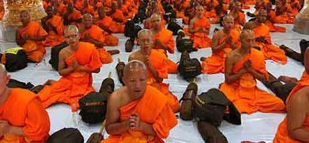 Monks Meditating