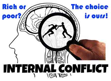 Conflict confuses our desire for growth and abundance