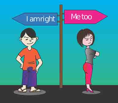 man and woman both think they are right