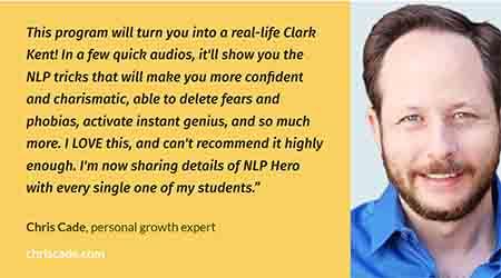 NLP Hero Testimonial from Chris Cade