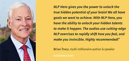 Picture of Brian Tracy and his testimonial for NLP Hero
