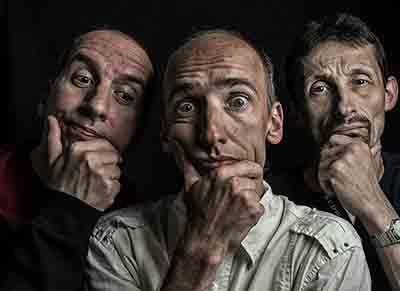 three men thinking