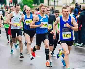 Men running a race
